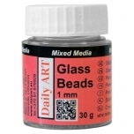 Glass Beads 1.0 mm, jar 25ml MINI PVC DA17800000
